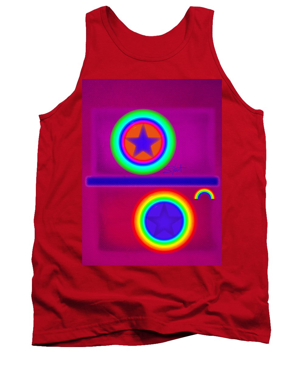 Balance Tank Top featuring the painting Balance Of Power by Charles Stuart