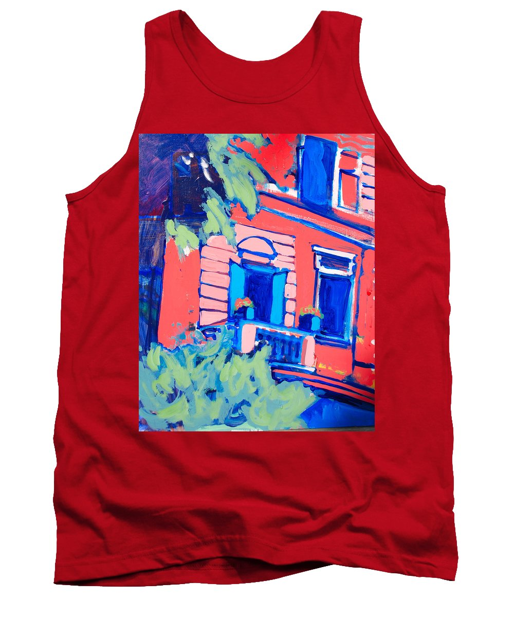 Balcony Tank Top featuring the painting Balcone by Kurt Hausmann