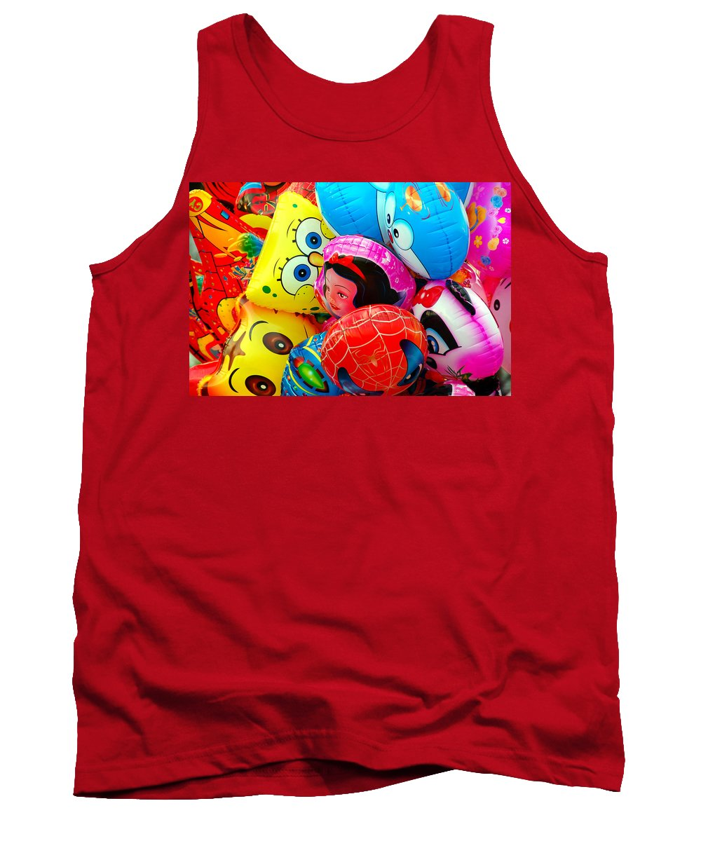 Colorful Tank Top featuring the photograph Balloons by Charuhas Images