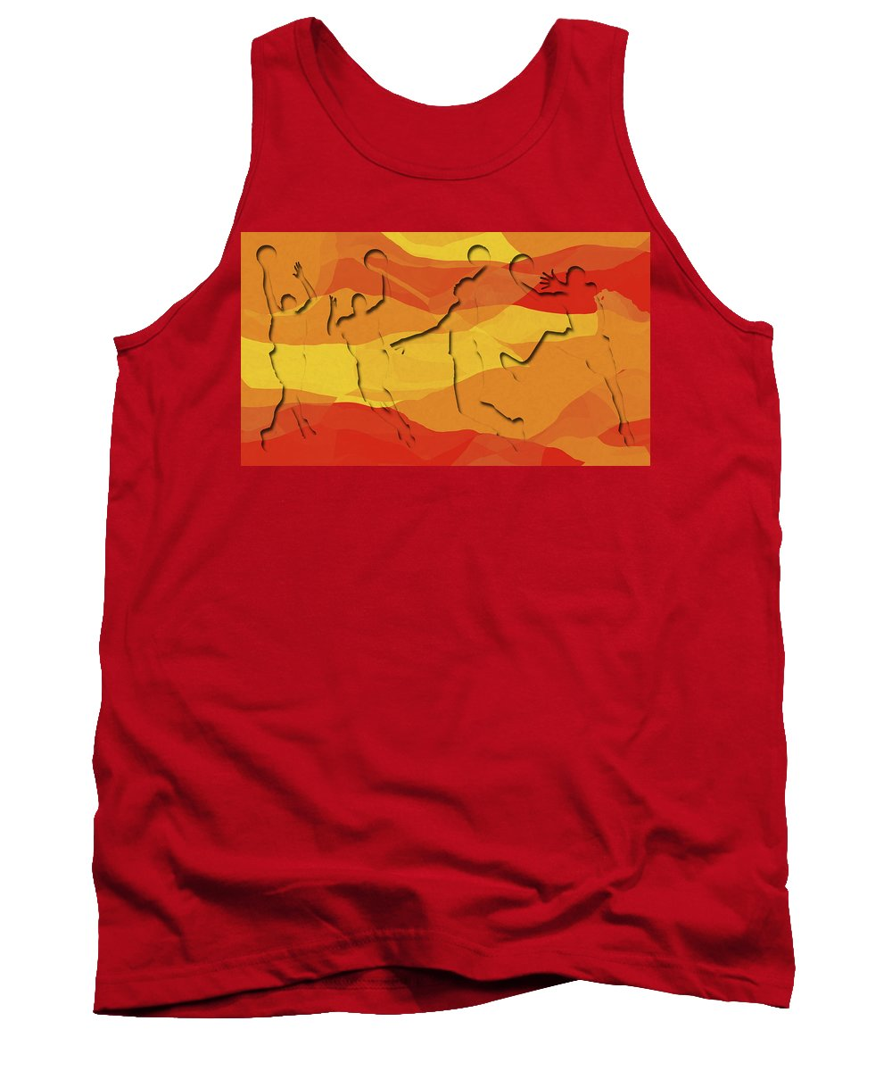 Basketball Tank Top featuring the photograph Basketball Players Abstract by David G Paul