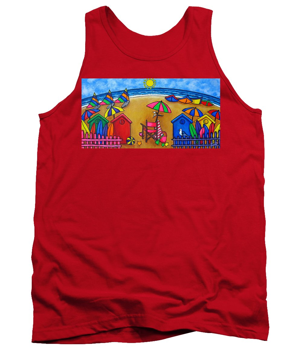 Beach Tank Top featuring the painting Beach Colours by Lisa Lorenz