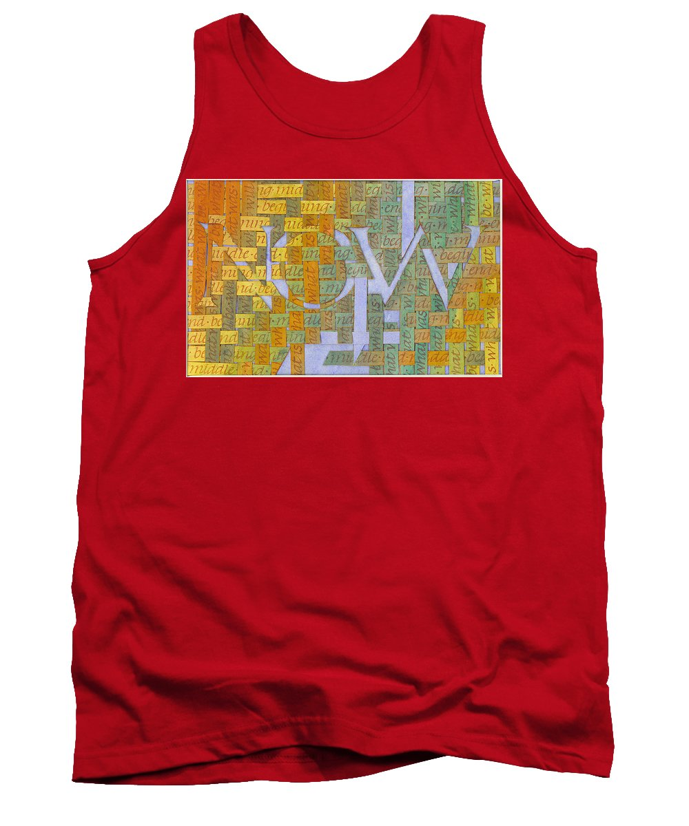 Calligraphy Tank Top featuring the painting Becoming by Sid Freeman