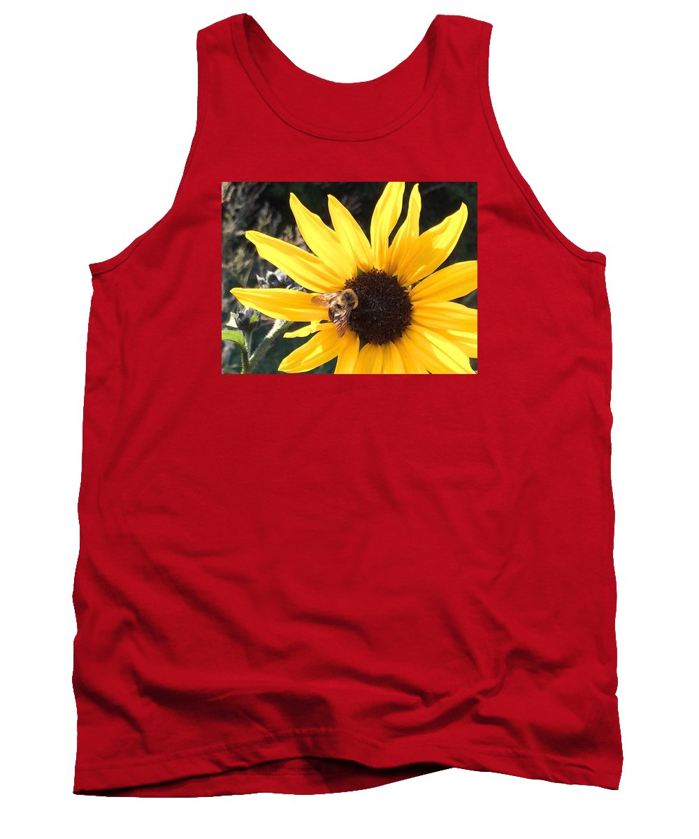 Plant Tank Top featuring the photograph Bee Haven by Patti Koss
