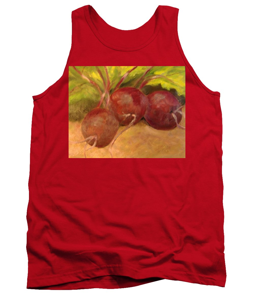 Vegtables Tank Top featuring the painting Beet It by Pat Snook