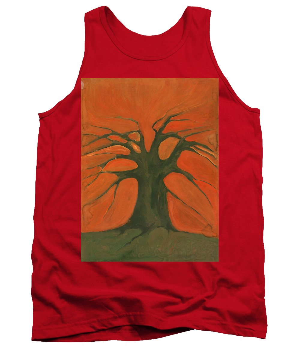 Colour Tank Top featuring the painting Beginning Of Life by Wojtek Kowalski