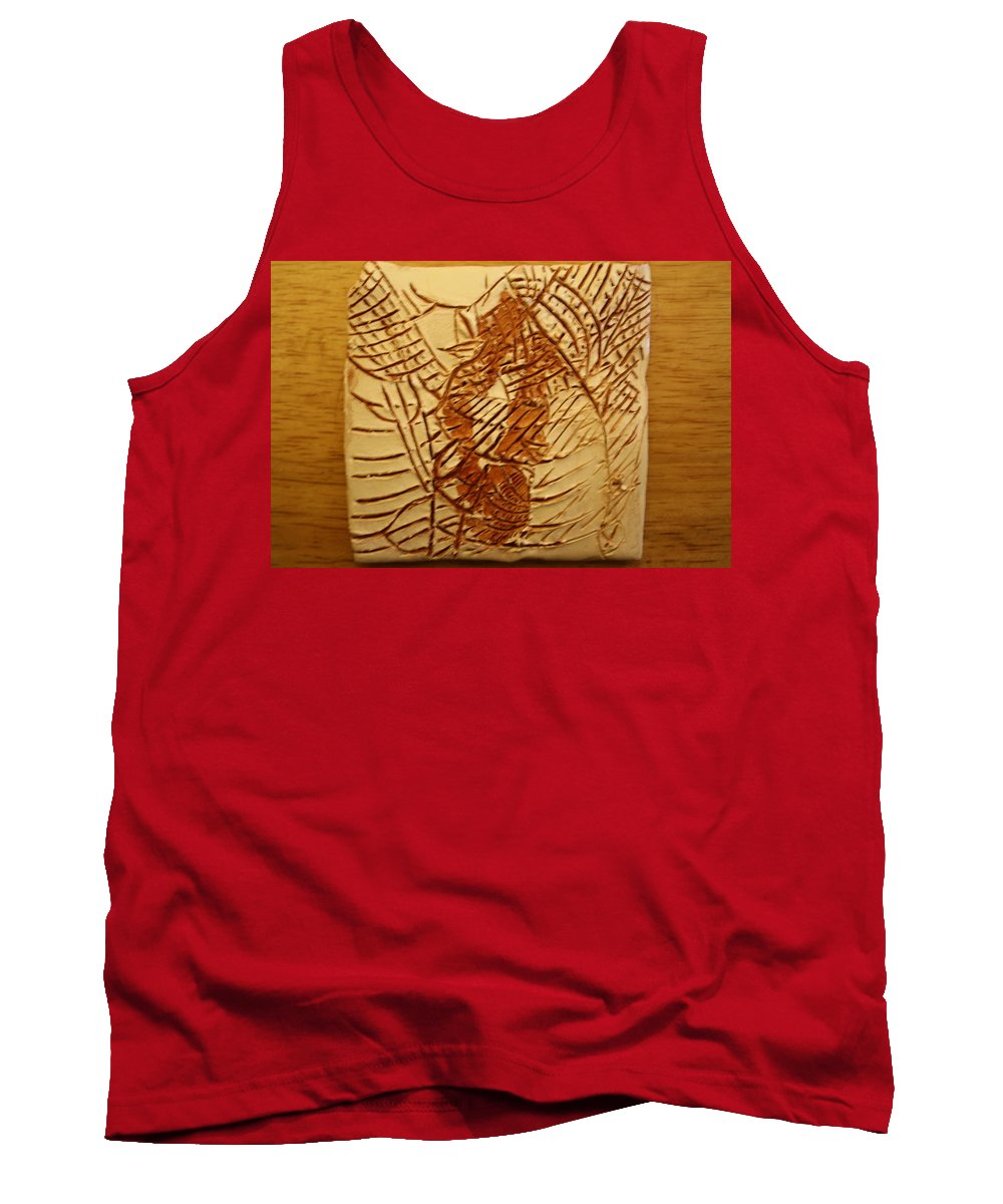 Jesus Tank Top featuring the ceramic art Beleive This - Tile by Gloria Ssali