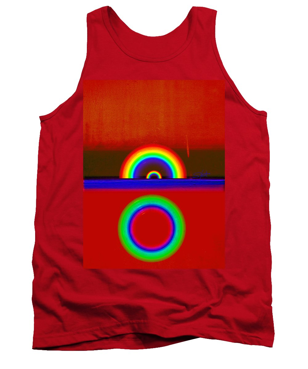 Rainbow Tank Top featuring the painting Beneath The Deep Blue Sea by Charles Stuart