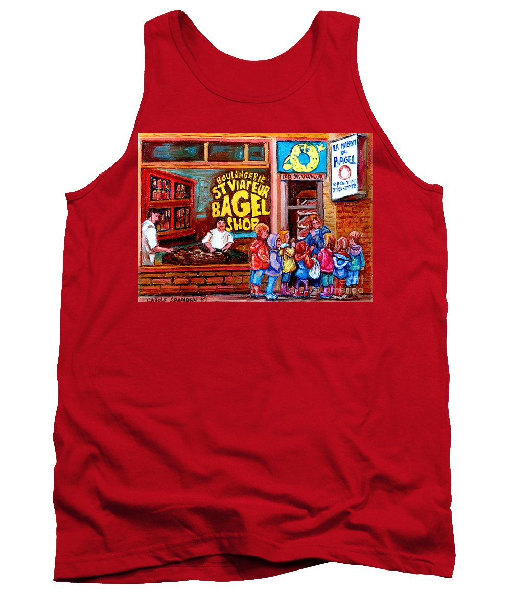 Children Tank Top featuring the painting Bet You Cant Eat Just One by Carole Spandau