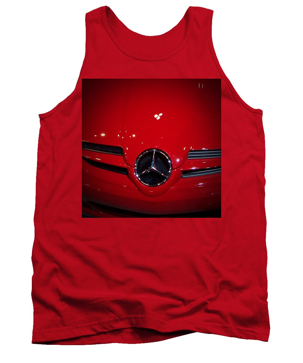 Picture Tank Top featuring the photograph Big Red Smile - Mercedes-benz S L R Mclaren by Serge Averbukh