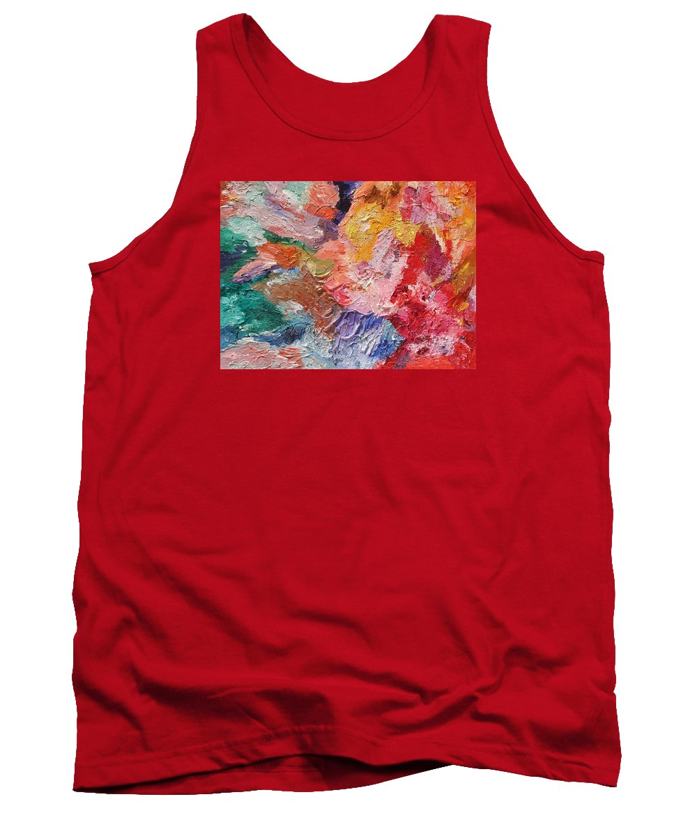 Fusionart Tank Top featuring the painting Birth Of Passion by Ralph White
