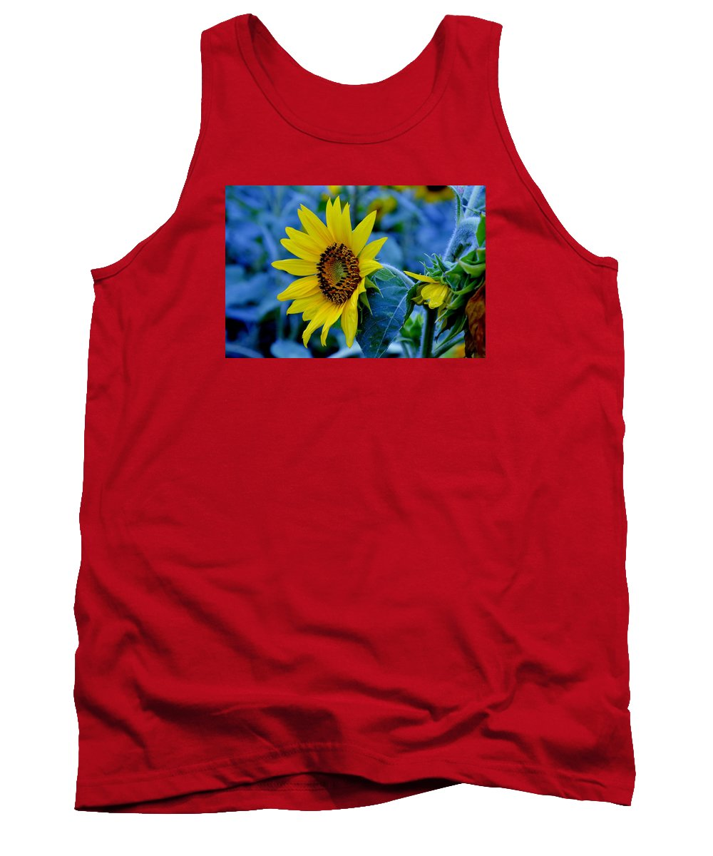 Tank Top featuring the photograph Blue And Yellow by Russell Bonovitch