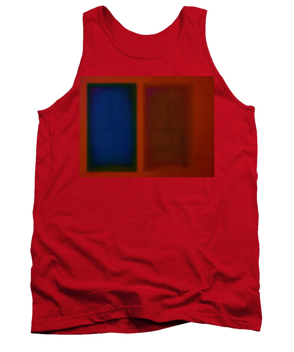 Rothko Tank Top featuring the painting Blue On Orange by Charles Stuart