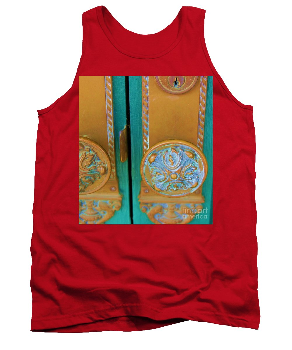 Door Tank Top featuring the photograph Brass Is Green by Debbi Granruth