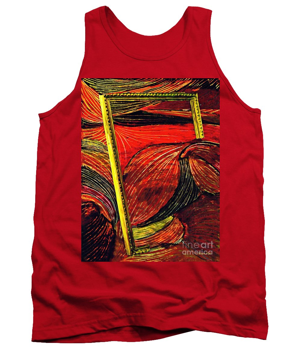 Wave Tank Top featuring the mixed media Breakthrough by Sarah Loft