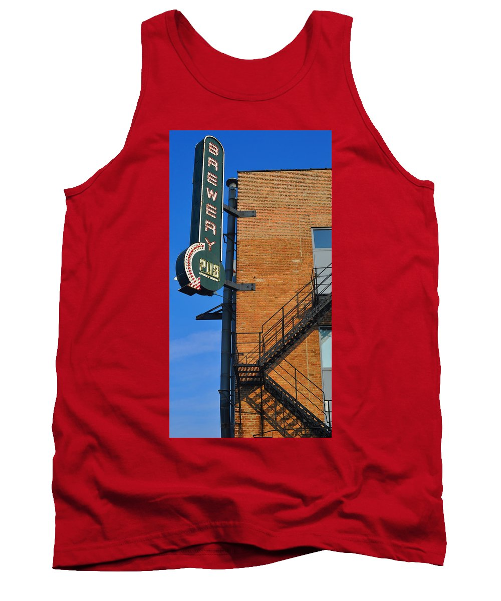 Chicago Tank Top featuring the photograph Brewery Pub by Tim Nyberg