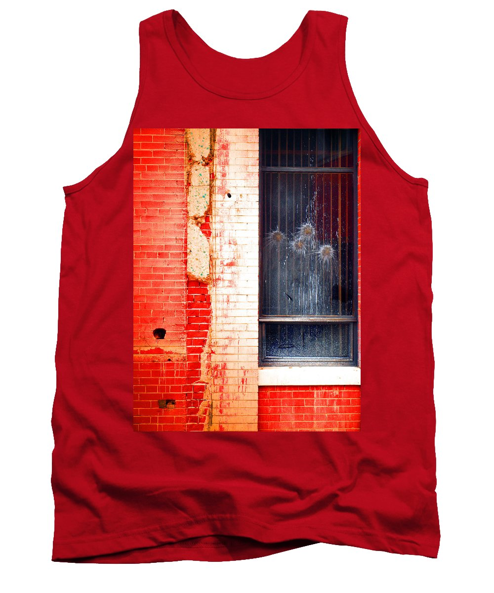 Glass Tank Top featuring the photograph Broken Glass Like Flowers by Tara Turner
