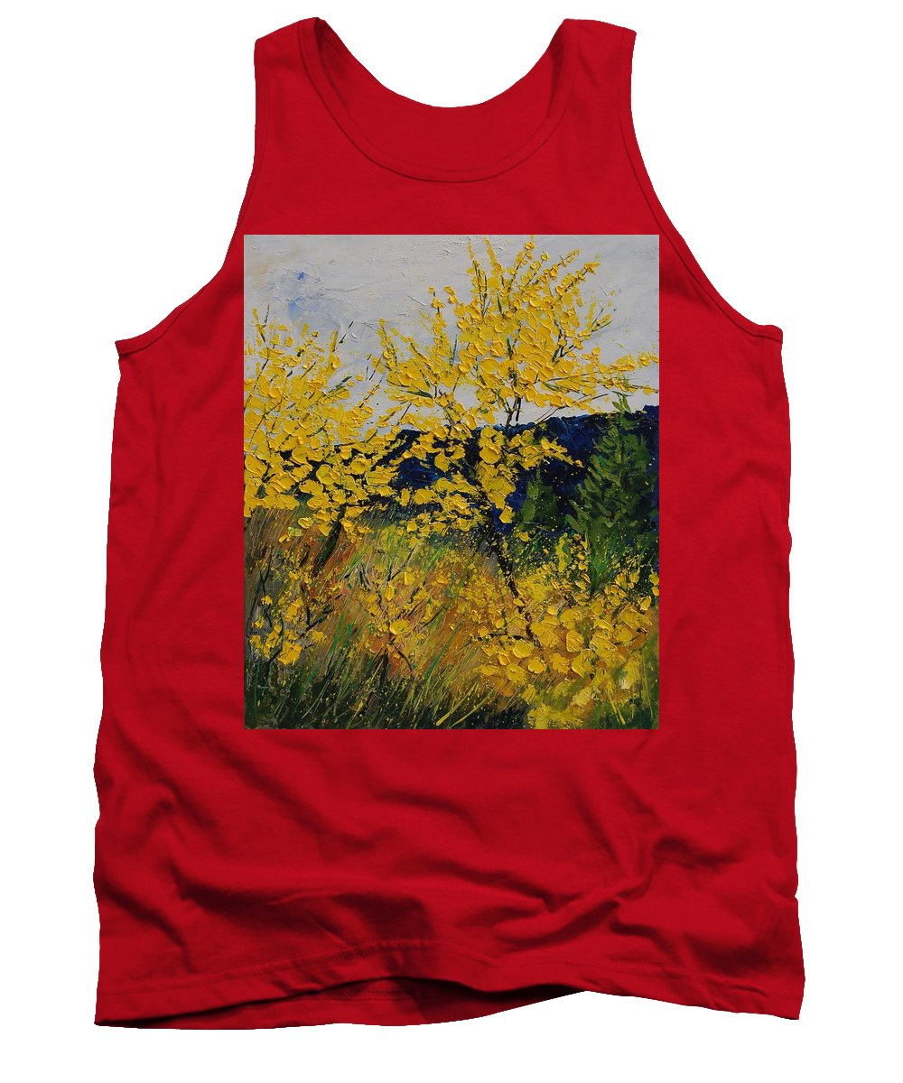 Flowers Tank Top featuring the painting Brooms by Pol Ledent