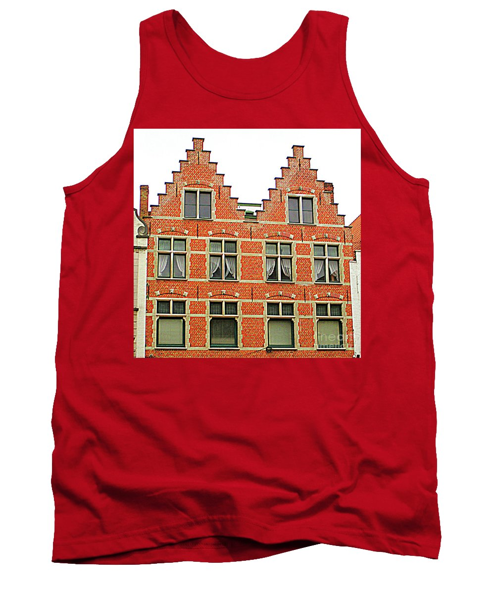 Bruges Tank Top featuring the photograph Bruges Window 9 by Randall Weidner