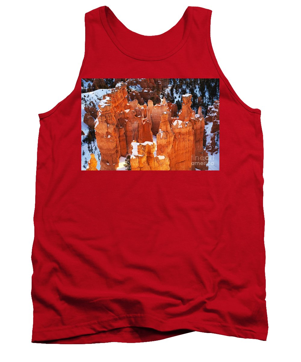Bryce Tank Top featuring the photograph Bryce Canyon Winter 1 by Bob Christopher