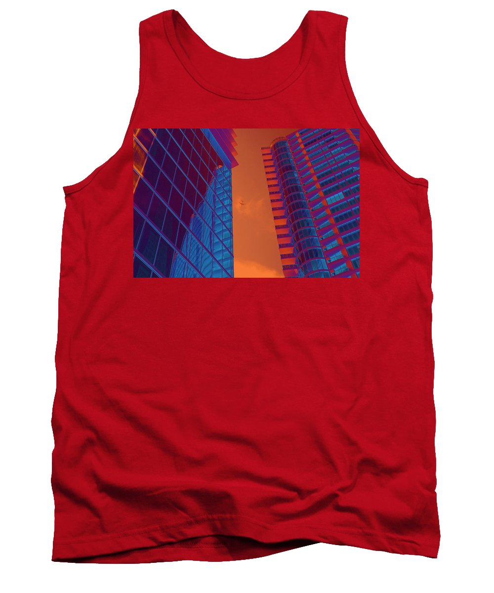 Multi Colored Tank Top featuring the photograph Business Travel, Architectural Abstract by Craig McCausland