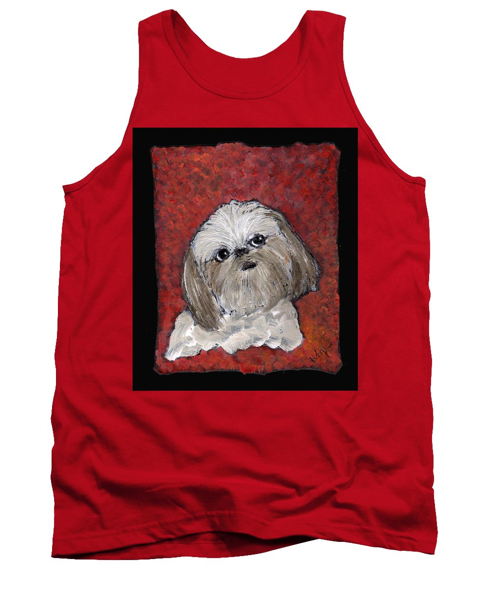 Dog Tank Top featuring the painting Buster by Wayne Potrafka