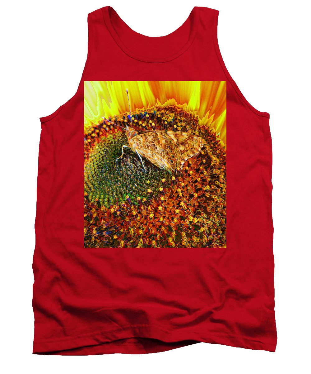 Butterfly Tank Top featuring the digital art Mid Summer by P Donovan