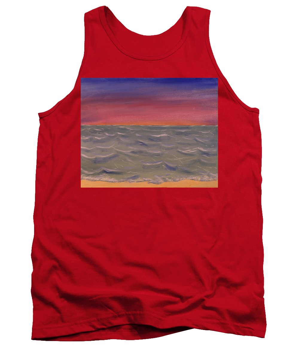 Seascape Tank Top featuring the painting By The Sea by David Stasiak