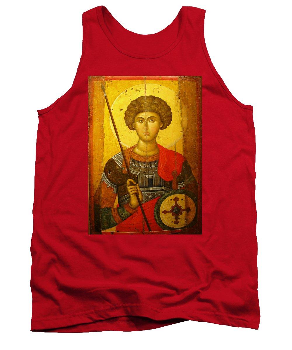 Byzantine Knight Tank Top featuring the photograph Byzantine Knight by Ellen Henneke