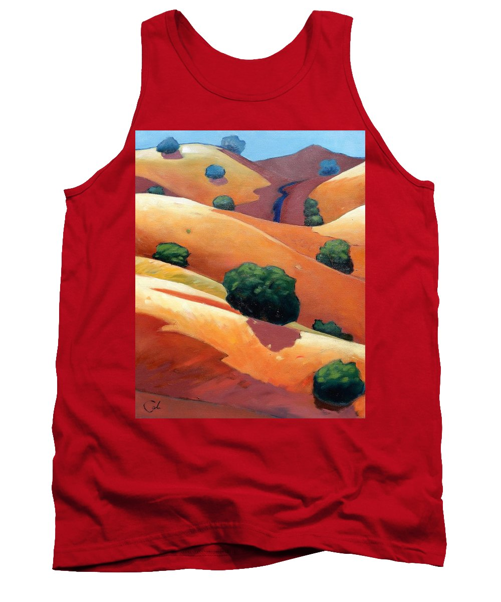 California Tank Top featuring the painting Ca Rollers Trip II by Gary Coleman