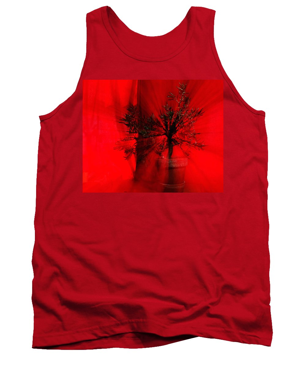 Abstract Tank Top featuring the photograph Cabin Fever Dance by Susan Capuano
