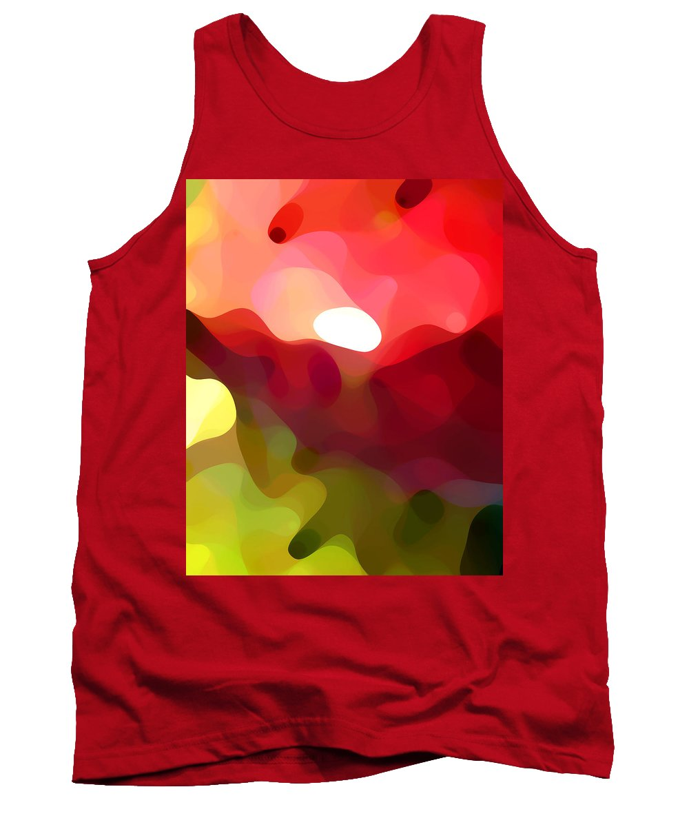 Abstract Art Tank Top featuring the painting Cactus Resting by Amy Vangsgard