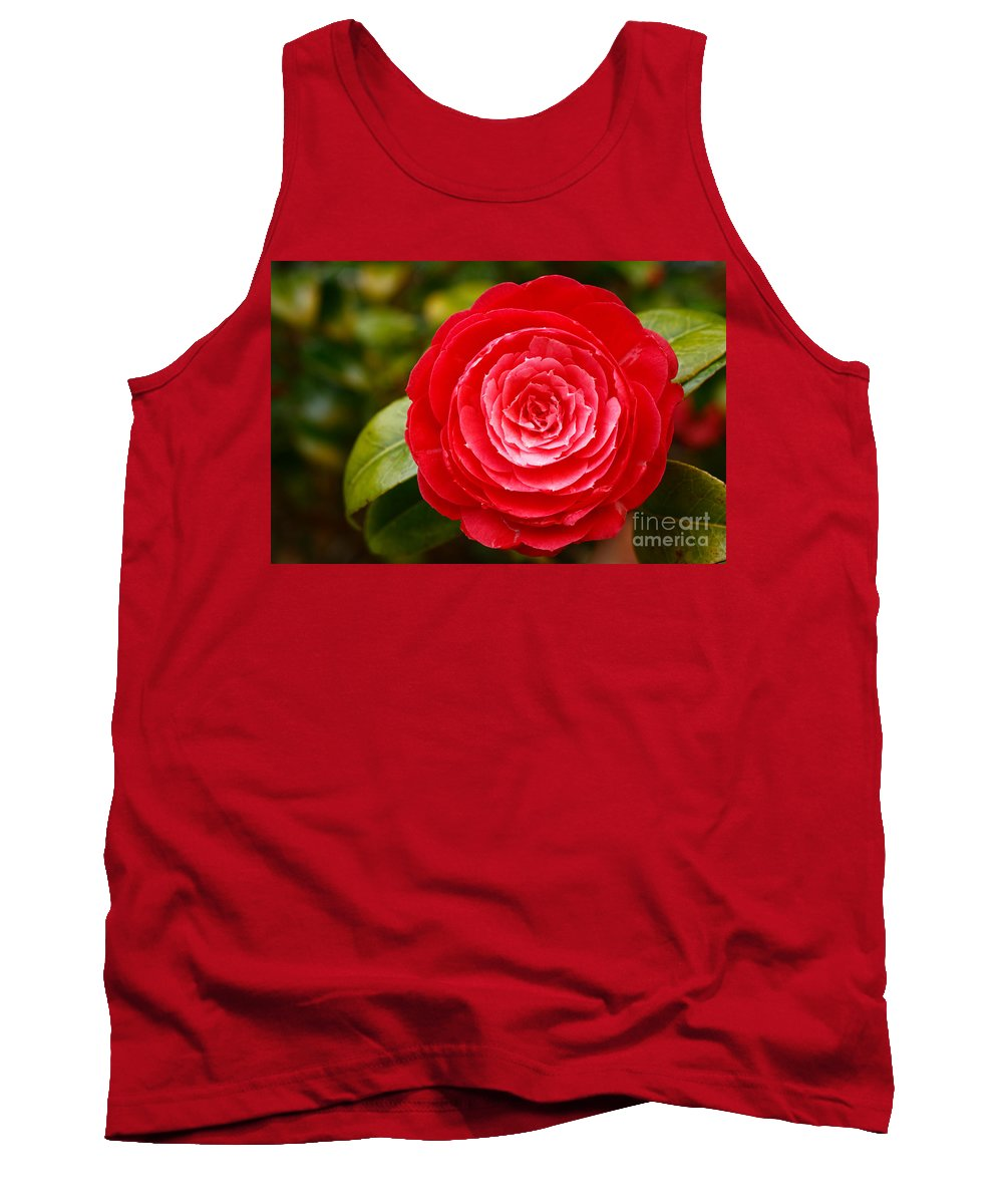 Azores Tank Top featuring the photograph Camellia Japonica by Gaspar Avila