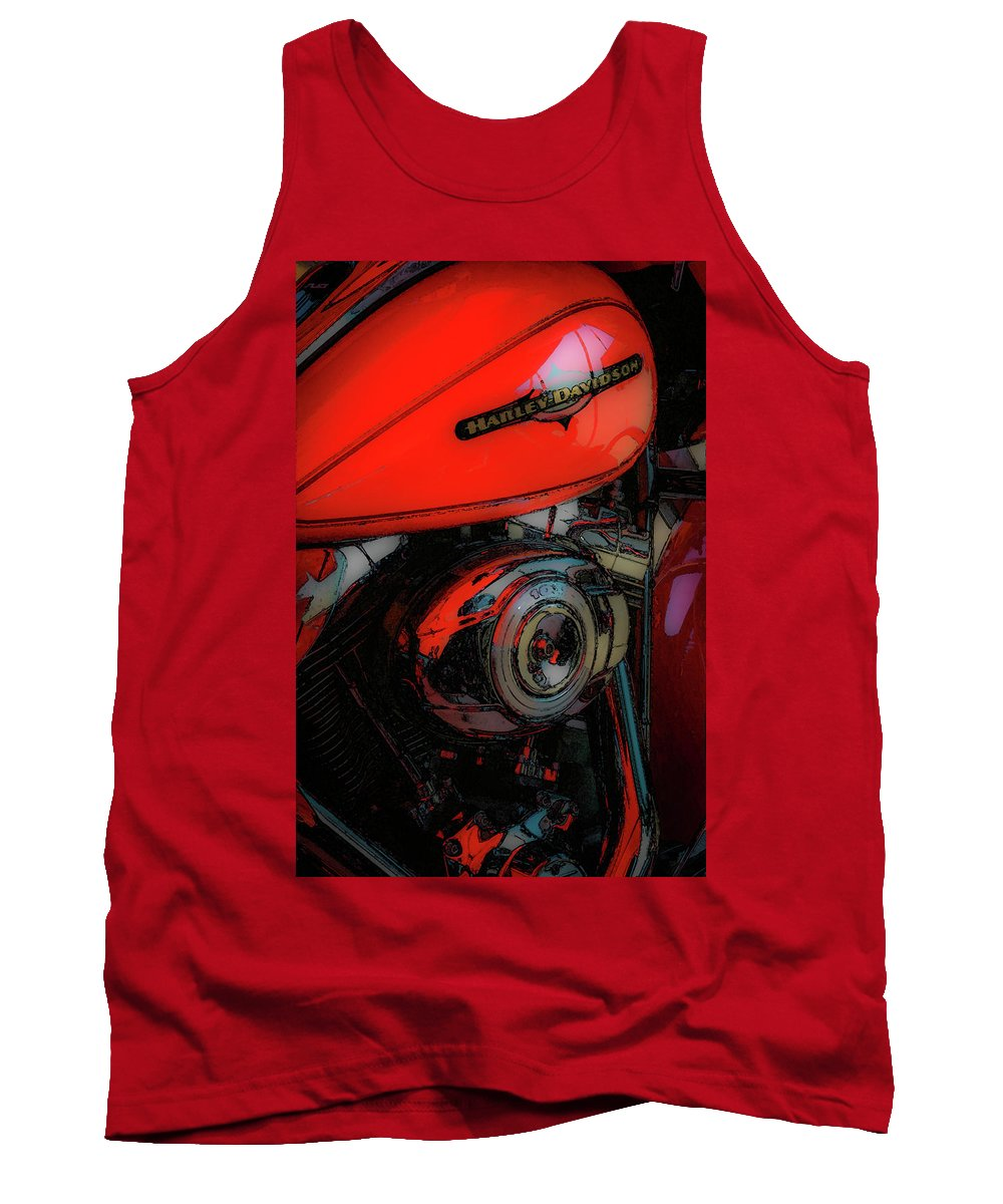 Rumble Tank Top featuring the photograph Can You Feel The Rumble 4420 G_2 by Steven Ward