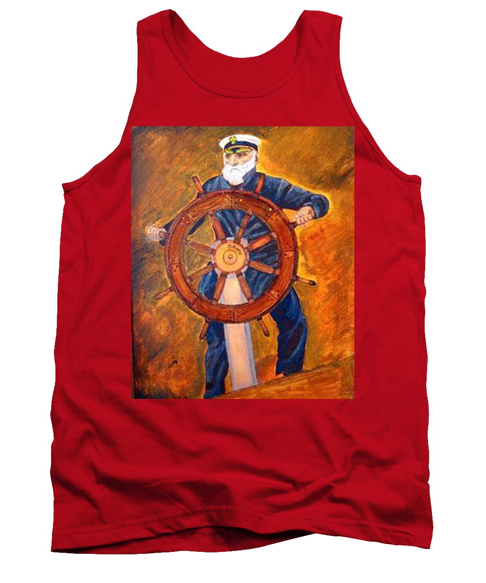 Sailor Tank Top featuring the painting Captian Of The Dawn by Richard Le Page