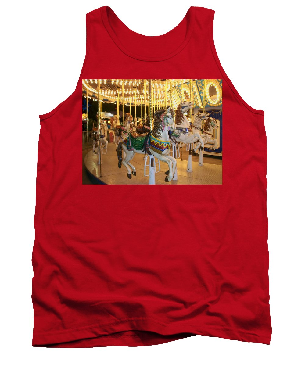 Carousel Horse Tank Top featuring the photograph Carousel Horse 4 by Anita Burgermeister