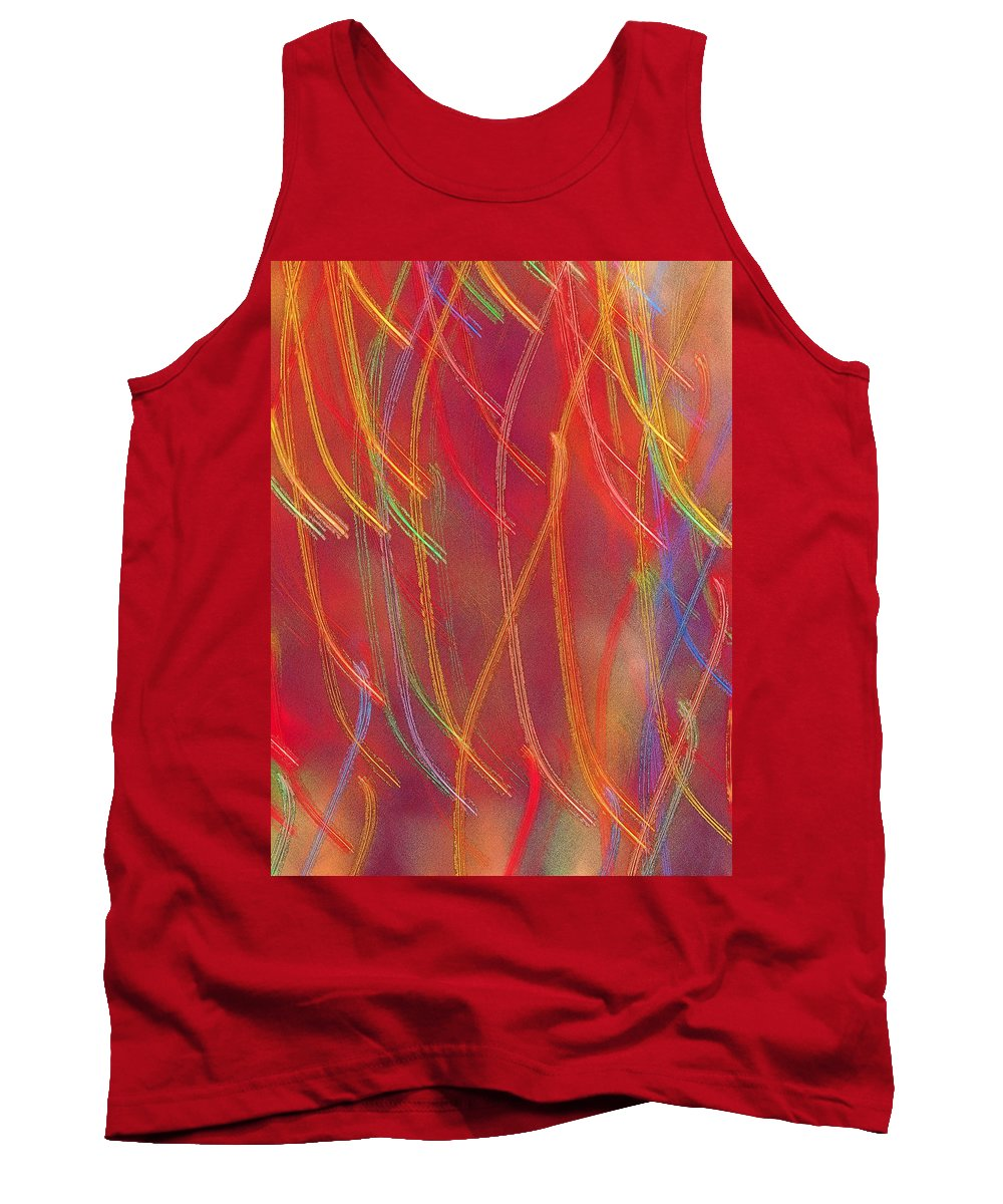 Abstract Tank Top featuring the photograph Celebration by Gaby Swanson