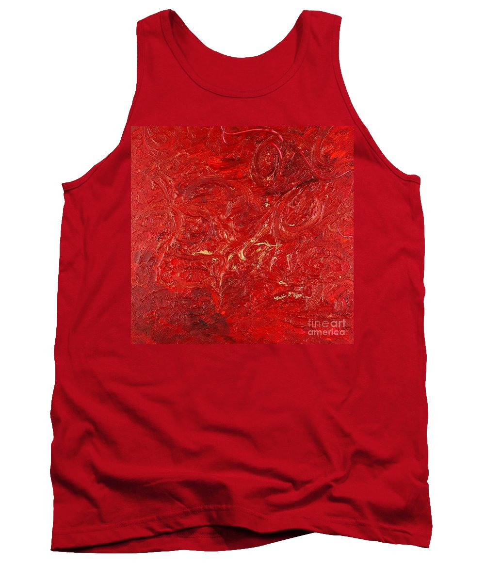Red Tank Top featuring the painting Celebration by Nadine Rippelmeyer