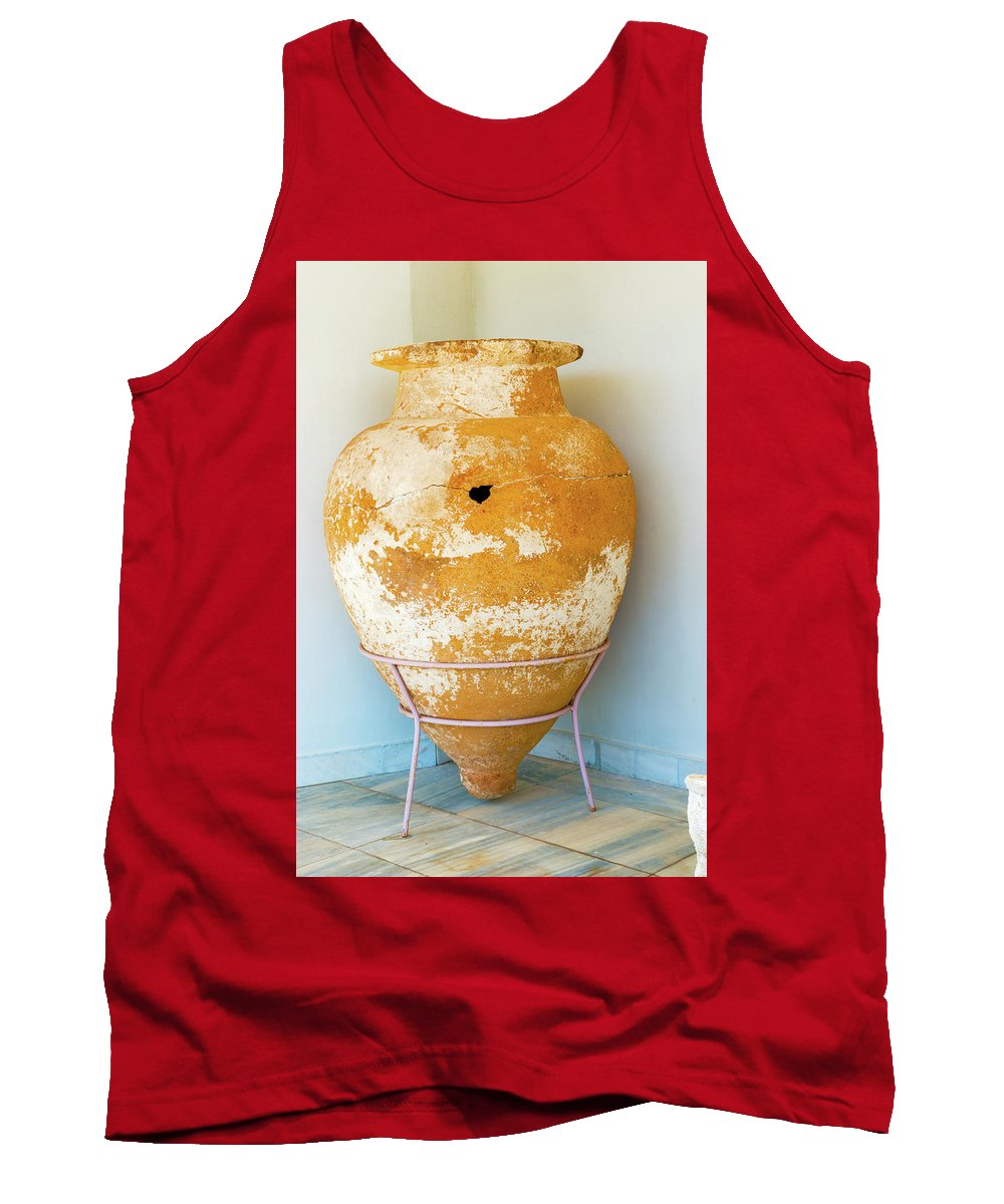 Greece Tank Top featuring the photograph Ceramic Pot From Olympia. by Marek Poplawski