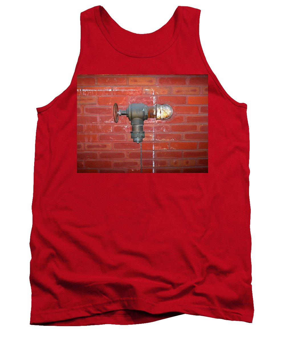 Color Photograph Tank Top featuring the photograph Chalked Pipe by Thomas Valentine
