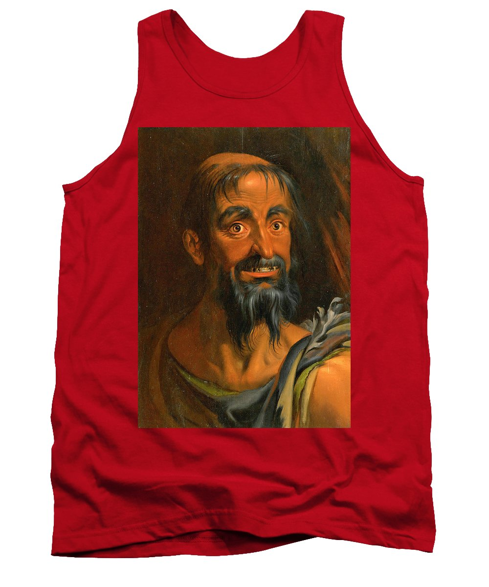 Attributed To Werner Van Den Valckert Tank Top featuring the painting Charon by Attributed to Werner van den Valckert