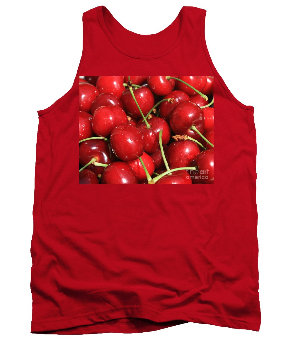 Food And Beverages Tank Top featuring the photograph Cherries by Carol Groenen