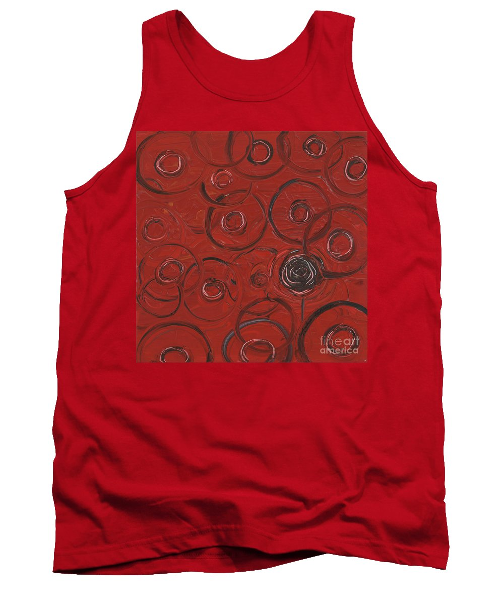 Red Tank Top featuring the painting Choices In Red by Nadine Rippelmeyer