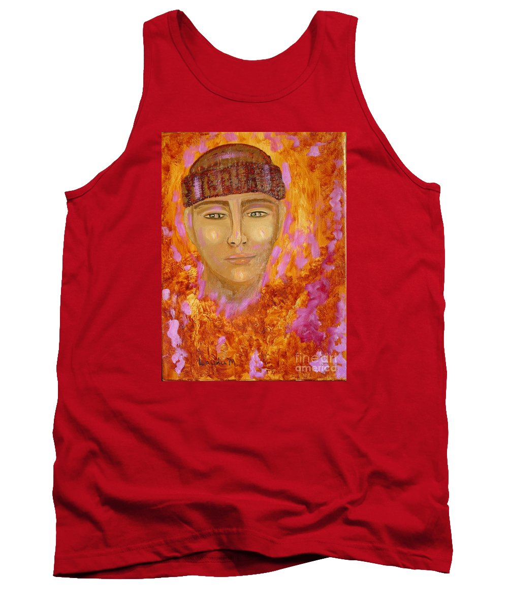 Portrait Tank Top featuring the painting Choices by Laurie Morgan