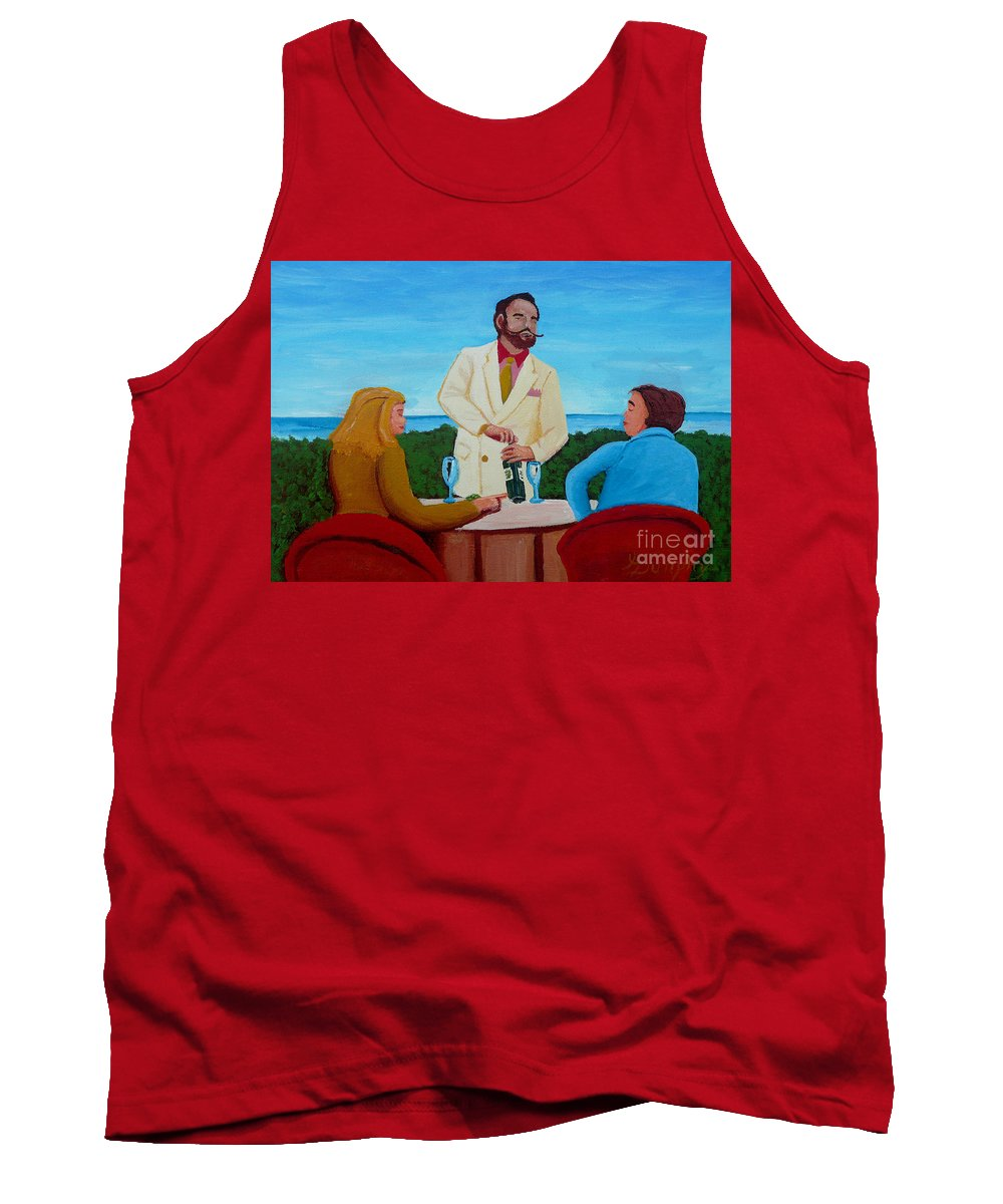 Wine Tank Top featuring the painting Choosing The Wine by Anthony Dunphy