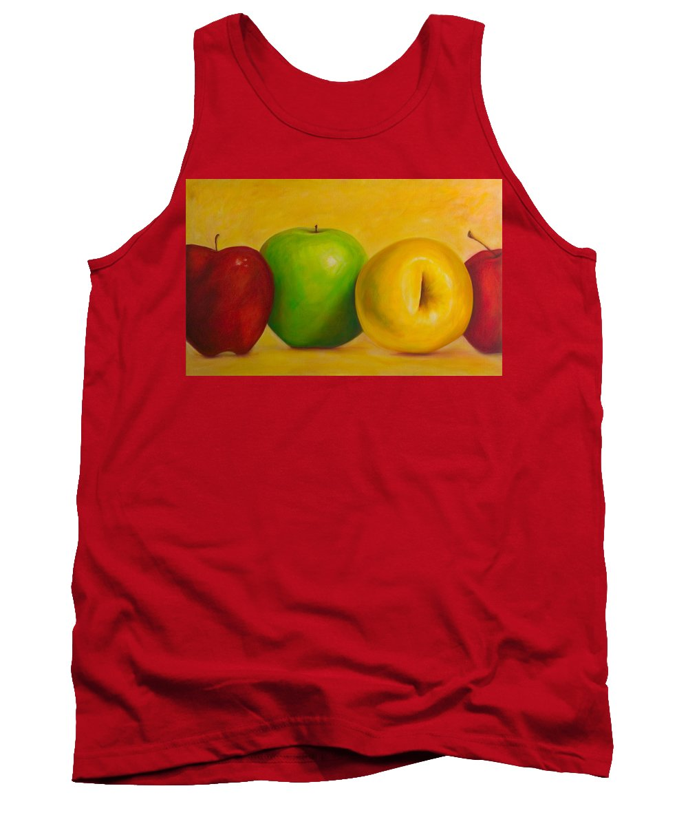 Still Life Tank Top featuring the painting Chorus Line by Shannon Grissom