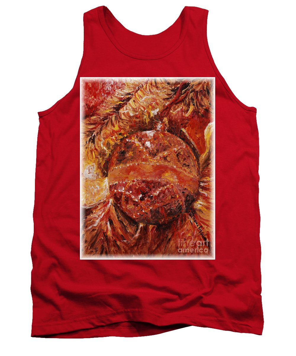 Christmas Tank Top featuring the painting Christmas Glitter by Nadine Rippelmeyer