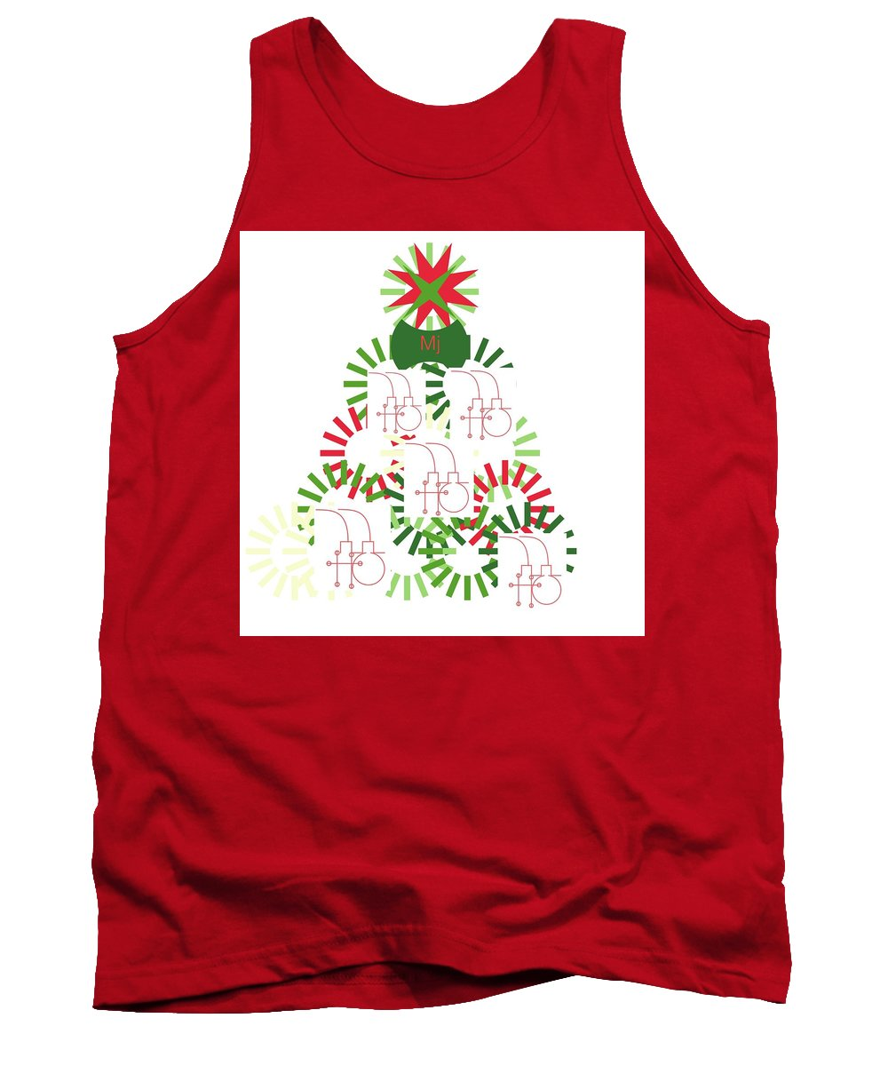 Christmas Card Tank Top featuring the digital art Christmas Tree by Mary Jo Hopton