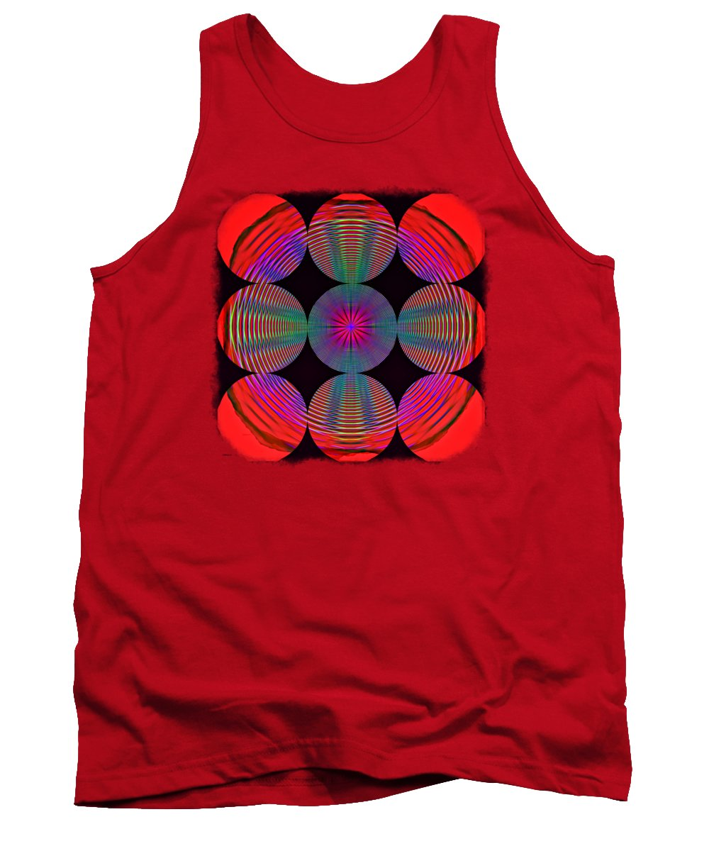 Abstract Tank Top featuring the photograph Circles And Circles 2 by John M Bailey