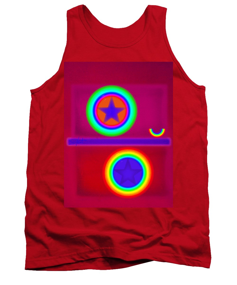 Balance Tank Top featuring the painting Circus Act by Charles Stuart