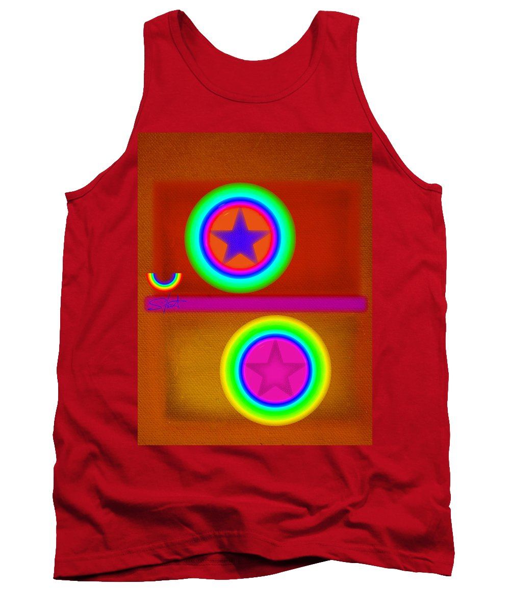 Balance Tank Top featuring the painting Circus Balls by Charles Stuart